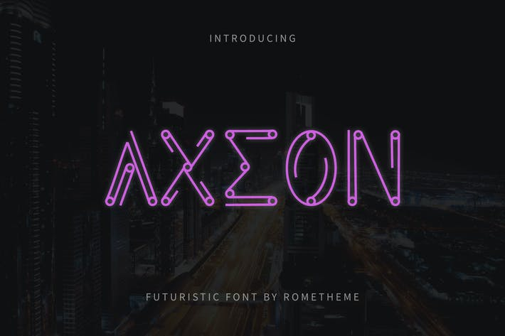 Cover Image For Axeon - Futuristic Typeface DR