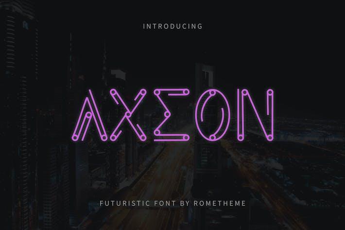 Thumbnail for Axeon - Futuristic Typeface DR