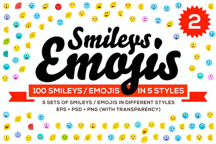 Thumbnail for Lot de 100 Emoji & Smiley Vol 2