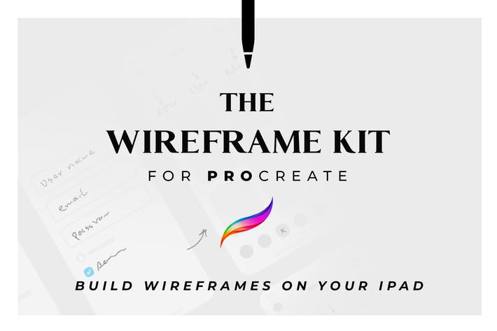 Thumbnail for The Wireframe Kit for Procreate