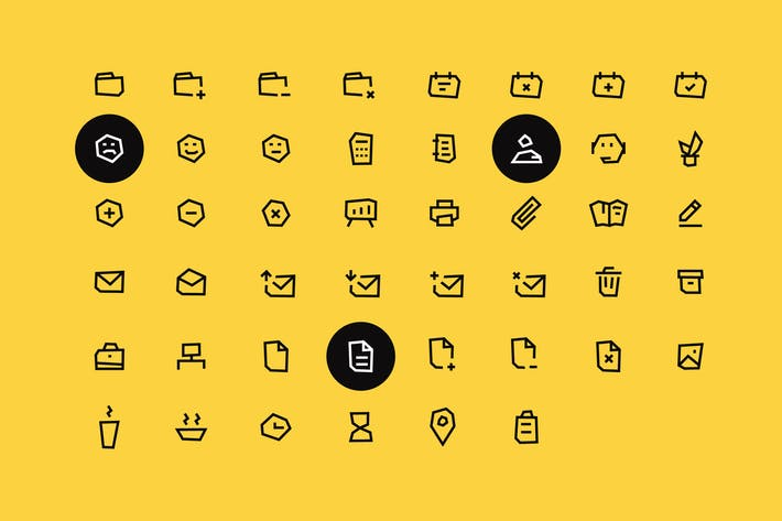 Thumbnail for Office vector icon set