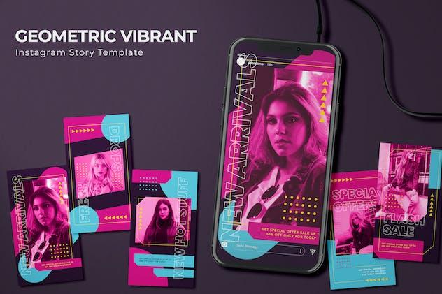 Geometric Vibrant - Instagram Story