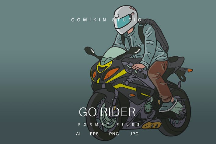 Thumbnail for Go Rider Illustration