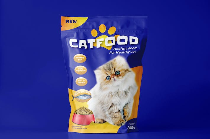 Thumbnail for Cat Food Pouch Design