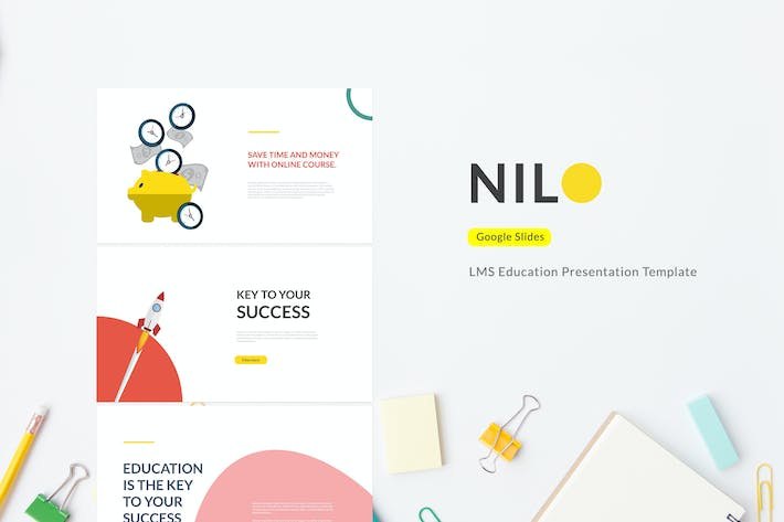 Cover Image For Nilo - LMS Education Google Slides Template
