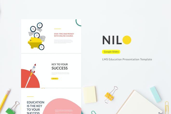 Thumbnail for Nilo - LMS Education Google Slides Template