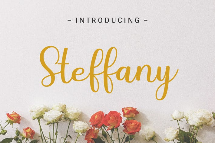 Cover Image For Steffany - Handwriting Font