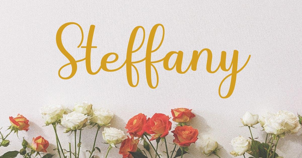 Download Steffany - Handwriting Font by deemakdaksinas