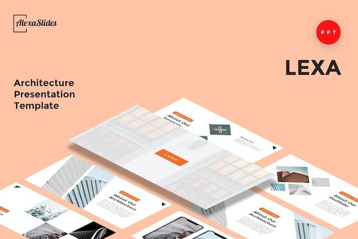 Thumbnail for Lexa - Architecture Powerpoint Slide Template
