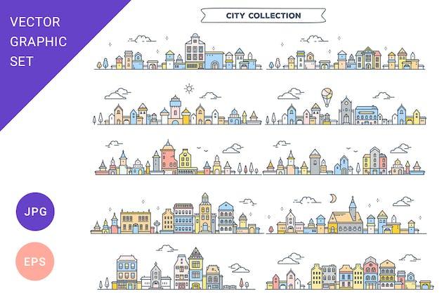 City street graphics   set