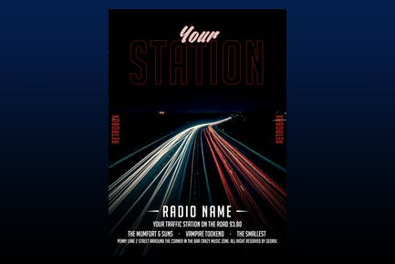 Your Station Flyer Poster