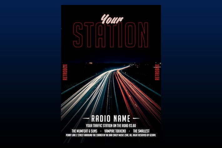 Cover Image For Your Station Flyer Poster