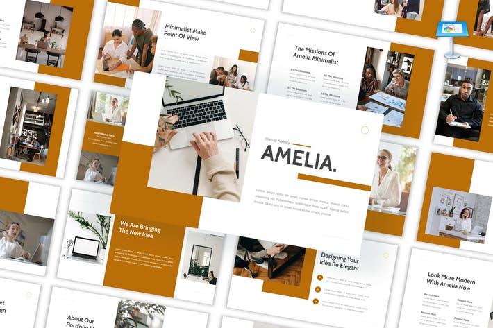 Thumbnail for Amelia - Startup Agency Keynote Template