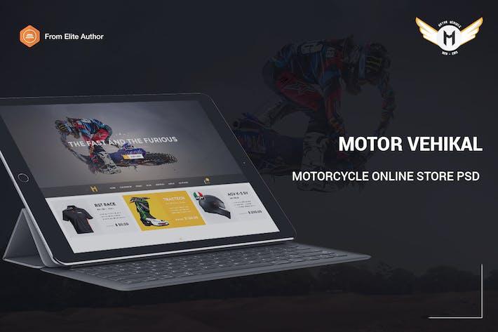 Thumbnail for Motor Vehikal - Motorcycle Online Store PSD