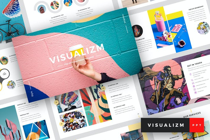 Thumbnail for Visualizm - Pop Art & Graffiti PowerPoint Template