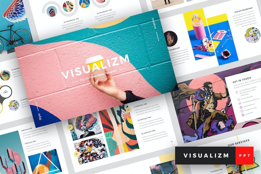 Visualizm - Pop Art & Graffiti PowerPoint Template