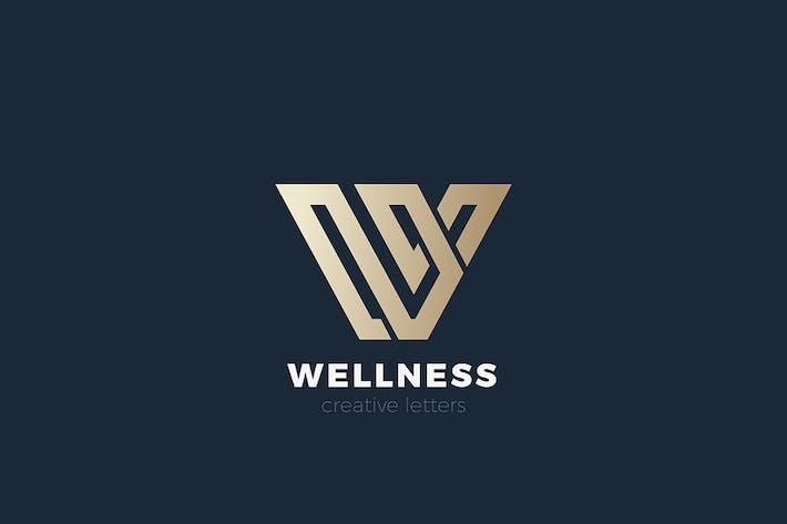 Letter W Logo design Luxury Corporate style