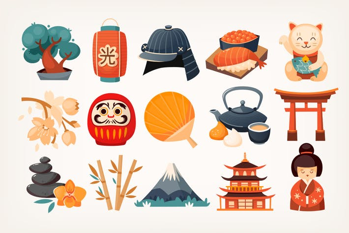 Japanische Aufkleber