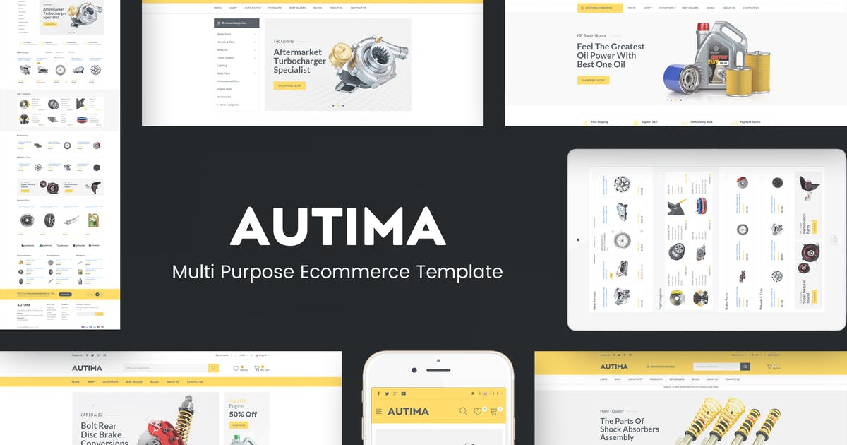 Download Autima - Accessories Car OpenCart Theme by Plaza-Themes