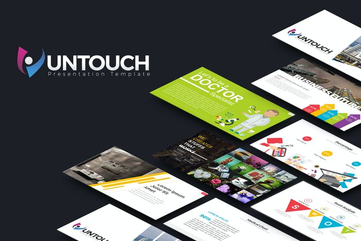 Thumbnail for Untouch Presentation Template