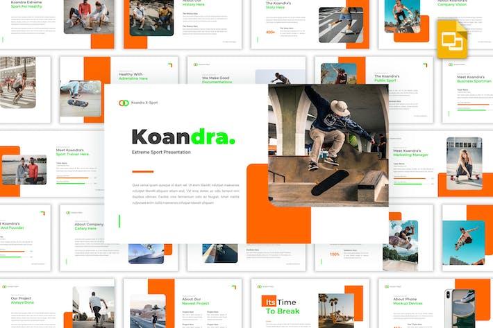 Koandra - Экстремальный спорт Google Слайды Шаблон