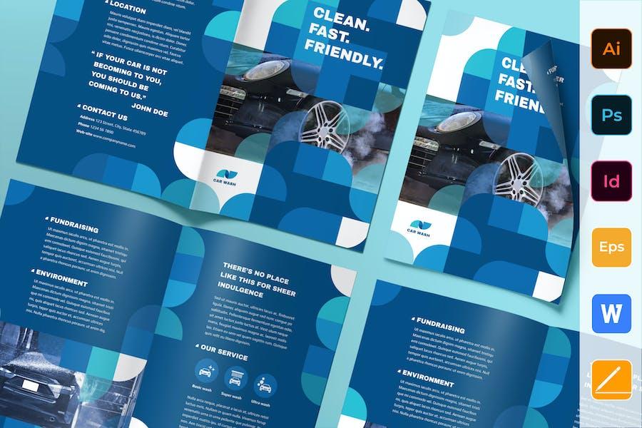Car Wash Brochure Bifold