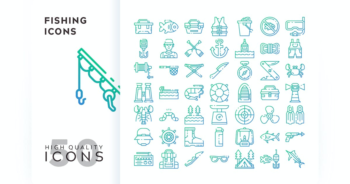 Download FISHING OUTLINE GRADIENT by subqistd