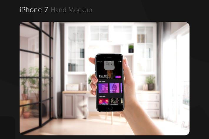 Thumbnail for iPhone 7 Hand Mockup