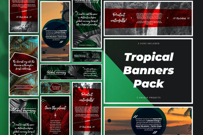 Thumbnail for Tropical Banners Pack