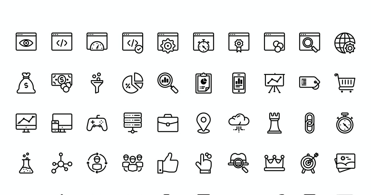 Download 50 SEO and Marketing icons by mir_design