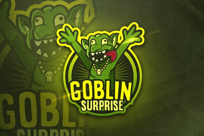 Thumbnail for Goblin Surpraise - Mascot & Sports Logo