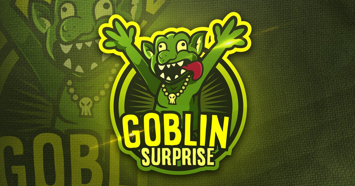 Download Goblin Surpraise - Mascot & Sports Logo by aqrstudio