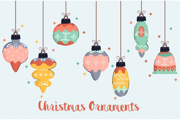 Thumbnail for Christmas Ornaments Illustration Pack