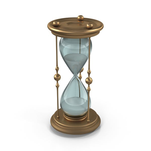 Classic Elegant Hourglass with White Sand
