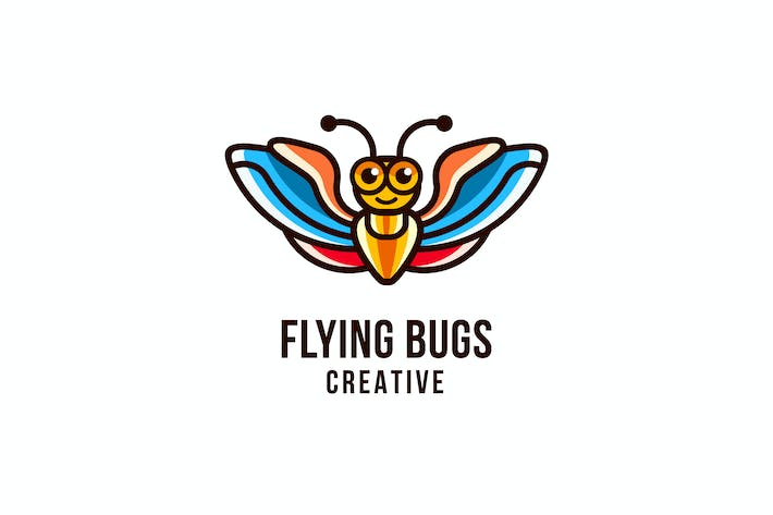 Thumbnail for Flying Bugs Creative Logo Template