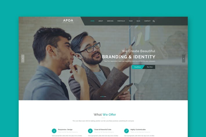Thumbnail for Apoa - Business PSD Template