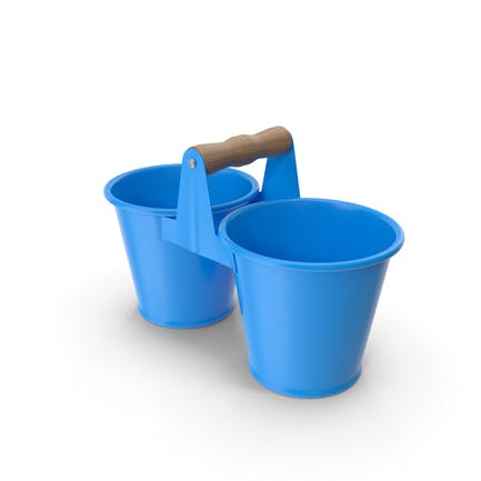 Twin Pot Blue