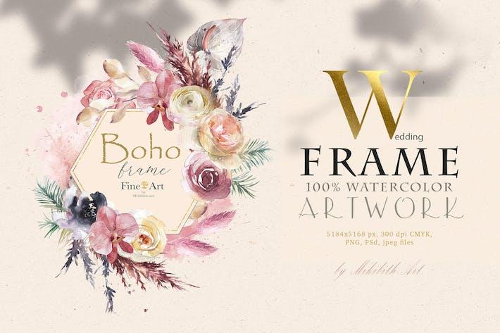 Thumbnail for Boho romb stylish frame