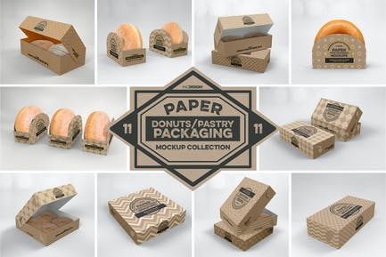 Paper Food Box Packaging Mockup Collection Vol.11
