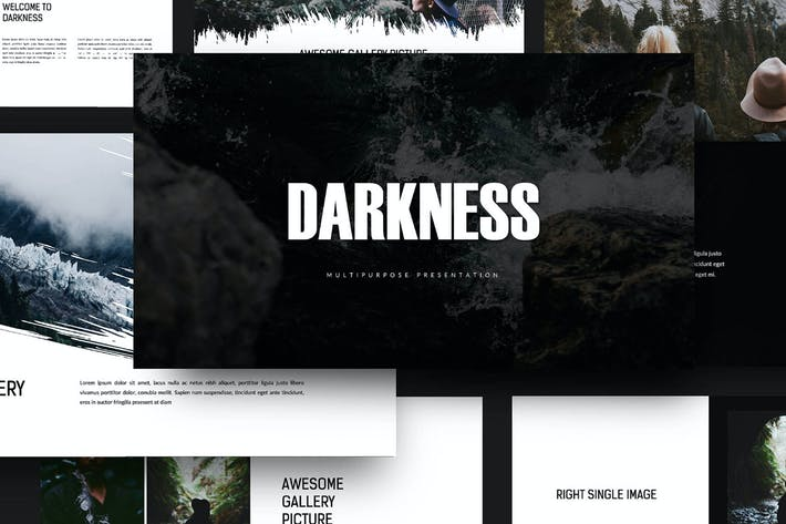 Thumbnail for Темнота - Шаблон Keynote