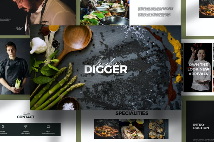 Thumbnail for Digger Recipe Menu Keynote Business Company