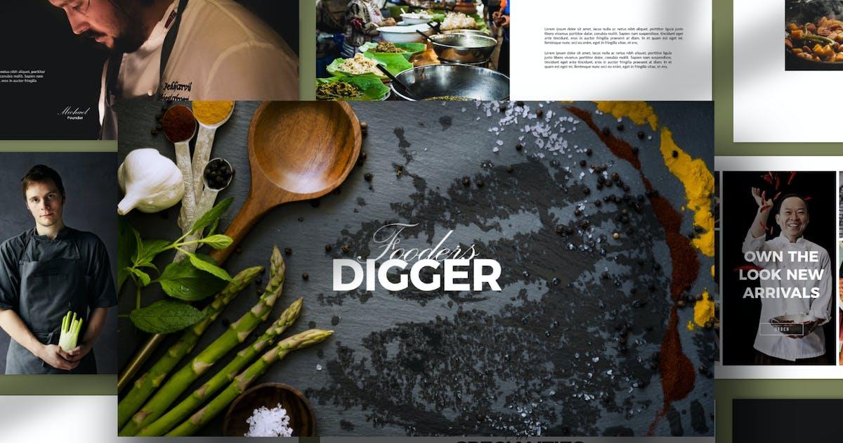 Download Digger Recipe Menu Keynote by dirtylinestudio