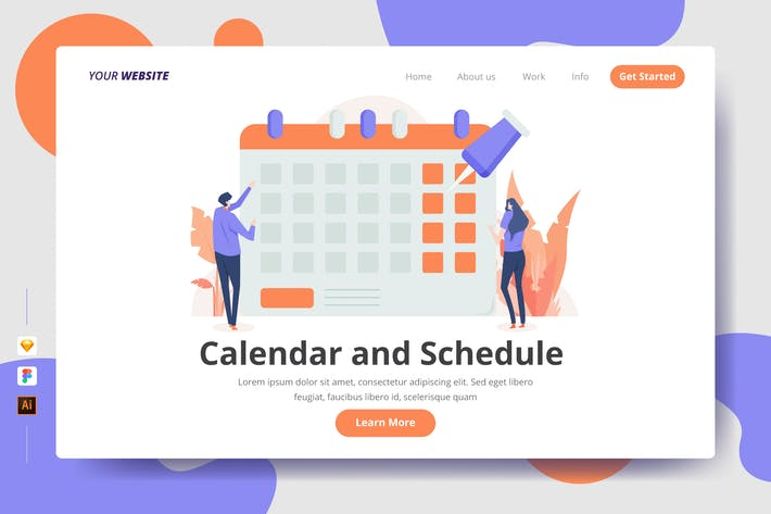 Thumbnail for Calendar and Schedule - Landing Page