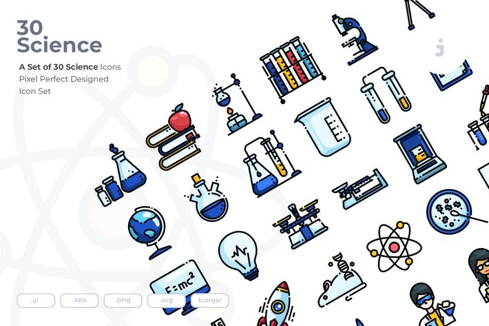 Thumbnail for 30 Science Icons