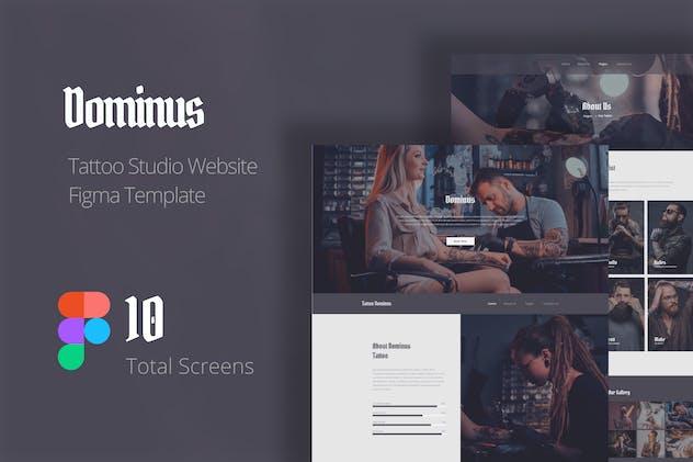 Dominus - Tattoo Studio Website Design Figma