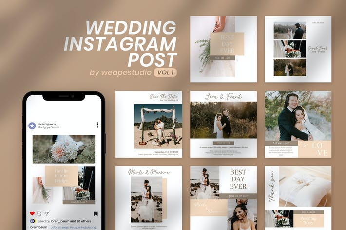 Thumbnail for Mariage Instagram Post Vol 1