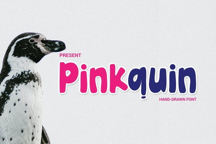 Thumbnail for Pinkquin Hand-drawn Font