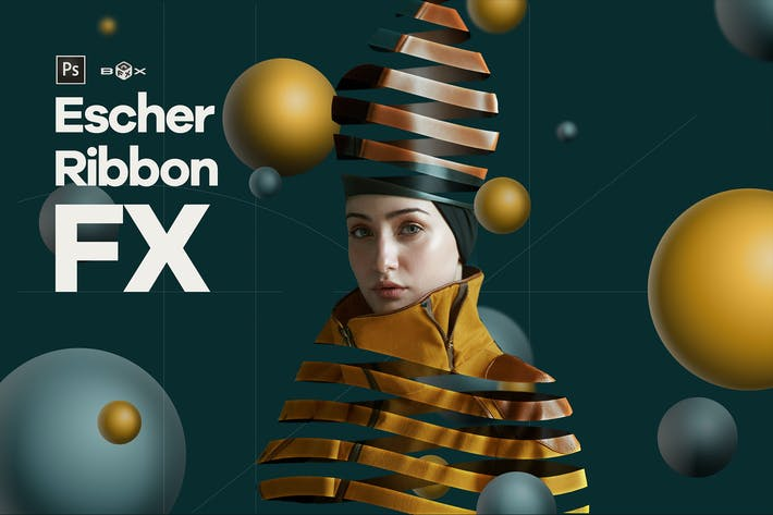 Thumbnail for Escher Ribbon FX Photoshop Add-On Extension