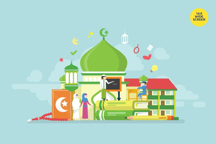 Thumbnail for Learning Islam Vector Concept Illustration