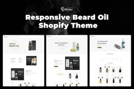 Olivine - Отзывчивое масло для бороды Shopify Тема